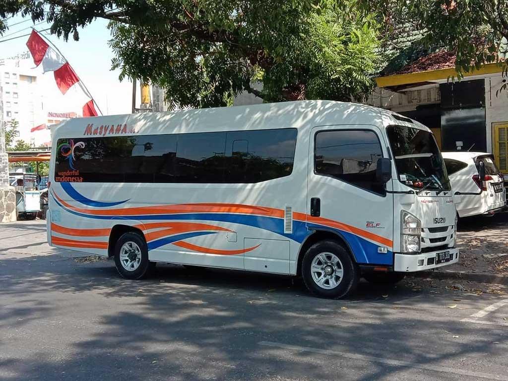 microbus elf pariwisata 19 seat